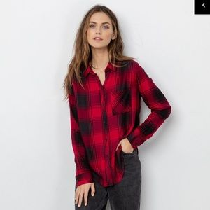 Rails Ruby onyx hunter plaid shirt